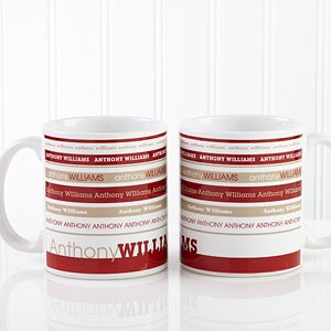 Personalized Coffee Mugs - Signature Stripe - 13148