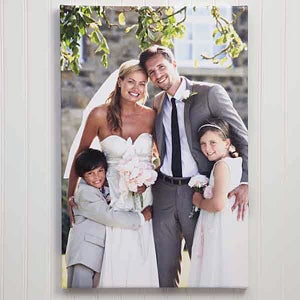 Custom Photo Canvas Print Wedding Memories 1316