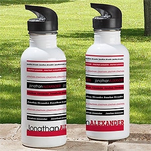 Personalized Water Bottles - Signature Stripe - 13167