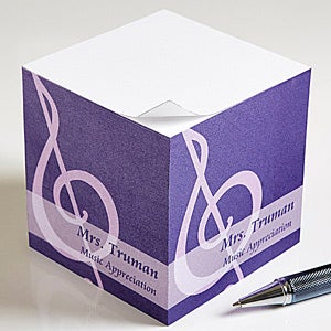 Personalized Teacher Note Pad Cube - Teaching Professions - 13173