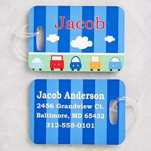 Personalized Boys Luggage Tag Set - Transportation - 13180