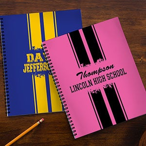 Personalized School Notebooks - School Spirit - 13182