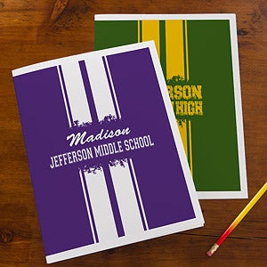 Personalized School Folders - School Spirit - 13183