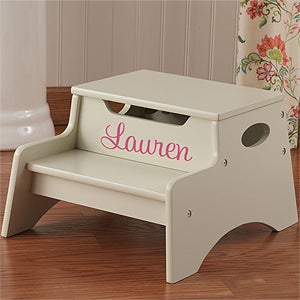 Personalized Step Stool For Kids Vanilla Kids Gifts