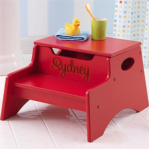 Personalized Kids Step Stool - Step u0026 Store - 13191D & Personalized Red Step Stool for Kids - Step u0026 Store - Kids Gifts islam-shia.org