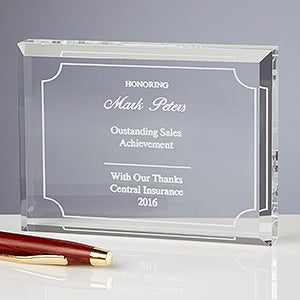 Personalized Achievement Award - Reflections Of Excellence - 13193