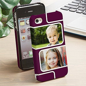 Personalized iPhone 4 Photo Cell Phone Case - Modern Photo Collage - 13216