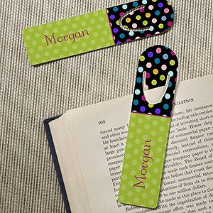 Personalized Girls Bookmarks - Polka Dots for Her - 13224