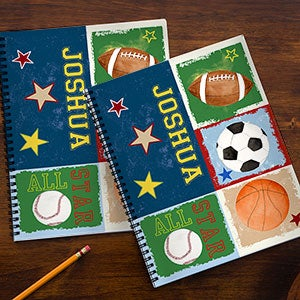 Personalized Kids Notebooks - Sports - 13240