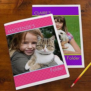 Photo Personalized School Folders - 13247