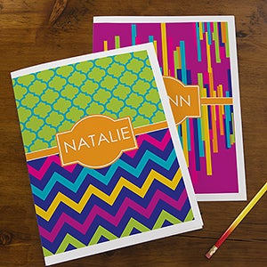 Personalized Kids School Folders - Bright & Cheerful - 13285