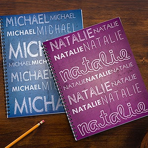 Personalized Notebooks - Custom Name - 13286