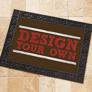 Design Your Own Personalized Doormat - #13289-Brown