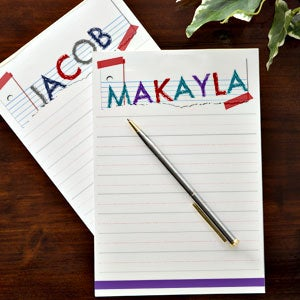 Personalized Kids Notepads - Torn Name - 13300