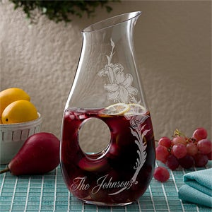 Personalized Drink Pitcher by Lenox - Wild Flowers - 13302