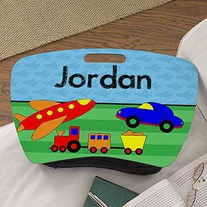 Personalized Boys Lap Desk - Planes, Trains & Cars - 13305