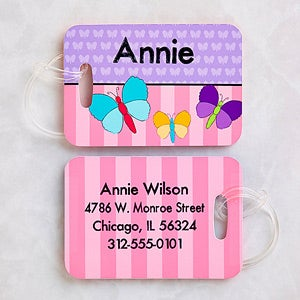 Personalized Girls Luggage Tag Set - Just For Her - 13306