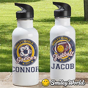 Personalized Sports Water Bottles - Smiley Sports - 13310
