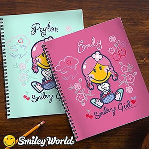 Personalized Kids Notebooks - Smiley Girl - 13311