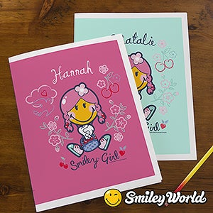 Personalized Kids Folders - Smiley Girl - 13314