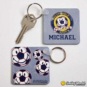 Personalized Key Rings - Smiley Sports - 13317