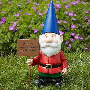Charmant Personalize Your Male Garden Gnome Statue With Your Choice Of Graphic And 2  Lines Of Text. See More Personalized Garden Gnomes At  PersonalizationMall.com.