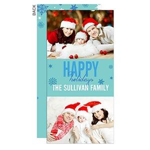 Personalized Photo Postcard Christmas Cards - Season's Greetings - 13333