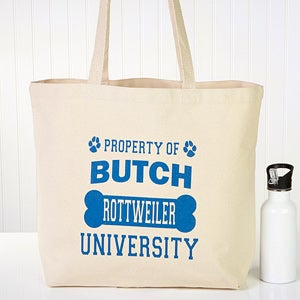 Personalized Dog Tote Bag - Property Of - 13338