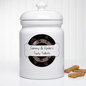 Personalized Dog Treat Jar - Throw Me A Bone - 13348