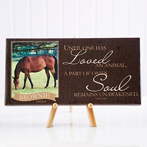 Personalized Pet Memorial Photo Canvas Print - 13350
