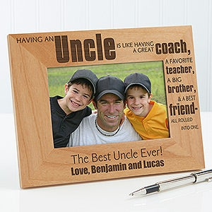 personalized uncle picture frames special uncle 13351