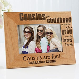 Personalized Cousins Picture Frames - Special Cousins - 13356