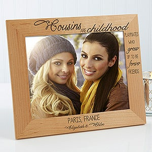 personalized cousins picture frames special cousins 13356