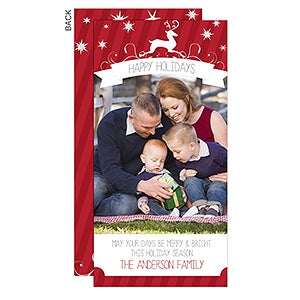 Personalized Holiday Photo Postcards - Reindeer - 13359