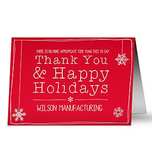 Personalized Business Christmas Cards - Thank You - 13360