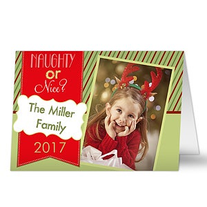 Family Photo Christmas Cards - Naughty Or Nice - 13367
