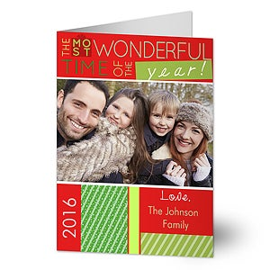 Photo Christmas Cards - Most Wonderful Time - 13368