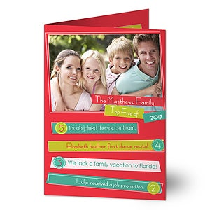 Personalized Photo Christmas Cards - Highlights Of The Year - 13374