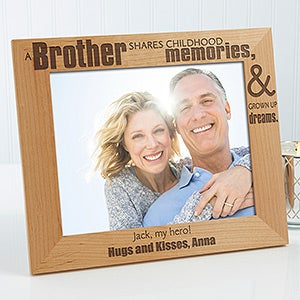 Personalized Picture Frames For Brothers 8x10 For Him