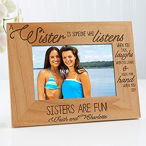 personalized sisters gifts sweatshirts mugs picture frames rings