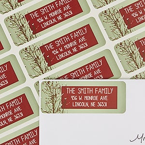 Personalized Return Address Labels - Holiday Peace - 13399