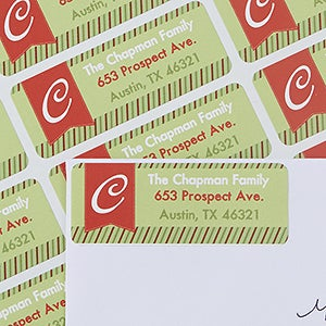 Christmas Return Address Labels - Naughty Or Nice - 13404