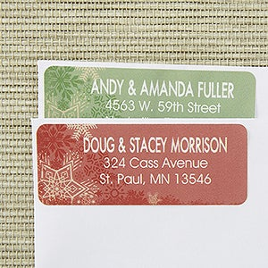 Personalized Holiday Address Labels - Snowflake Greetings - 13405