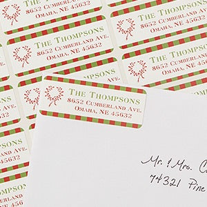 Personalized Christmas Address Labels - Classic Holiday - 13413