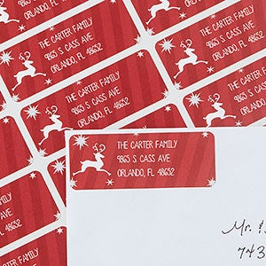 Holiday Return Address Labels - Classic Reindeer - 13416