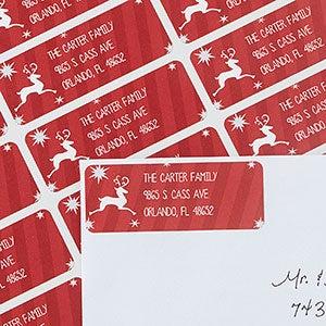 Holiday Return Address Labels - Classic Reindeer - 13416