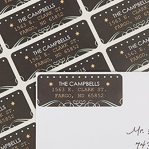 Personalized Return Address Labels - Tis The Season - 13419