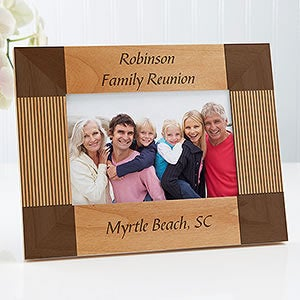 personalized 4x6 wood picture frame create your own design for