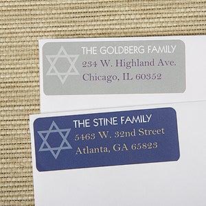 Personalized Hanukkah Return Address Labels - 13420