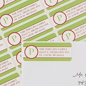 Return Address Labels - Holiday Monogram - 13422